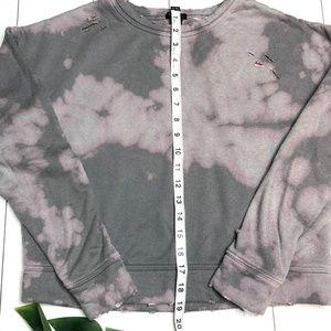 Forever 21 Tops - 🔥 3/$20: F21 Bleach Dyed Crop Sweatshirt